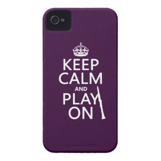 Keep Calm and Play On (clarinet) (any color) Case-Mate iPhone 4 Case