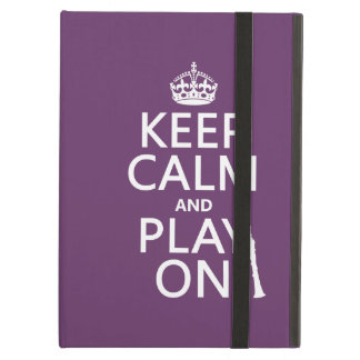 Keep Calm and Play On (clarinet) (any color) Cover For iPad Air