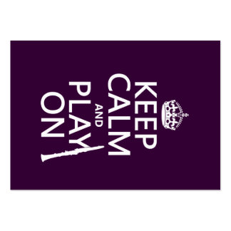 Keep Calm and Play On (clarinet) (any color) Large Business Card