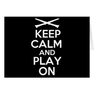 Keep Calm and Play On (Clarinet) Card