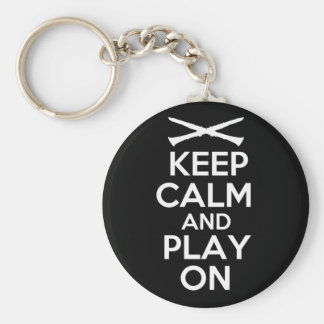 Keep Calm and Play On Clarinet Keychains