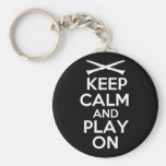 Keep Calm and Play On (Clarinet) Keychains