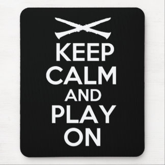 Keep Calm and Play On (Clarinet) Mouse Pad