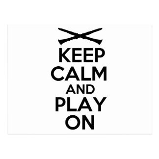 Keep Calm and Play On (Clarinet) Postcard