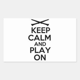 Keep Calm and Play On (Clarinet) Rectangular Sticker