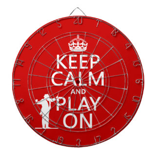 Keep Calm and Play On (conductor)(any color) Dart Board