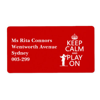 Keep Calm and Play On (conductor)(any color) Label