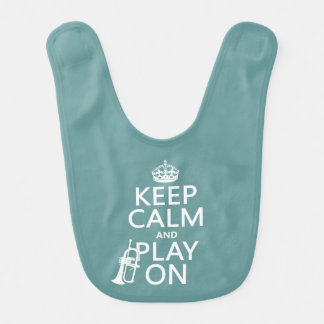 Keep Calm and Play On (cornet)(any color) Bib