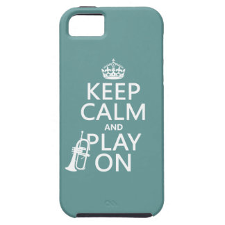 Keep Calm and Play On (cornet)(any color) iPhone SE/5/5s Case