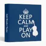 Keep Calm and Play On (double bass) Binder