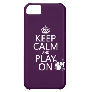 Keep Calm and Play On (drums)(any color) Case For iPhone 5C