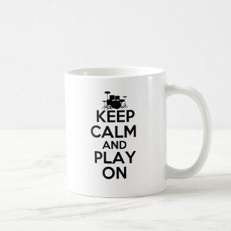 Keep Calm and Play On (Drums) Coffee Mug