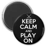 Keep Calm and Play On - Field Hockey 2 Inch Round Magnet