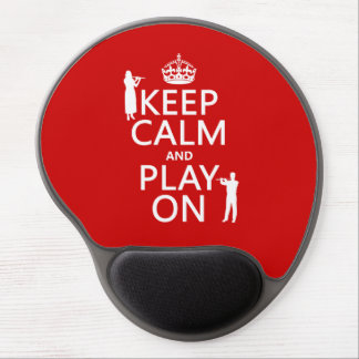 Keep Calm and Play On (flute)(any backgroundcolor) Gel Mouse Pad