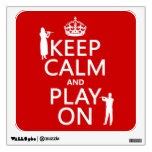 Keep Calm and Play On (flute)(any backgroundcolor) Room Sticker