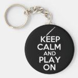 Keep Calm and Play On! (Flute) Key Chains