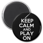 Keep Calm and Play On! (Flute) Magnets
