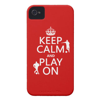 Keep Calm and Play On (football) (in any color) iPhone 4 Case-Mate Case