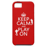 Keep Calm and Play On (football) (in any color) iPhone 5 Cases