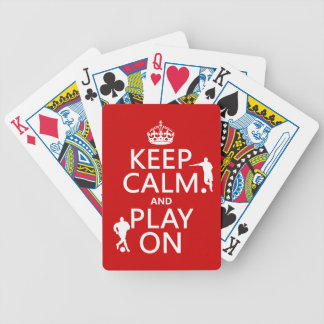 Keep Calm and Play On (football/soccer) Bicycle Playing Cards