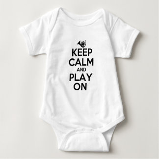Keep Calm and Play On French Horn Baby Bodysuit