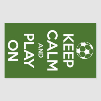 Keep Calm and Play On Green Stickers