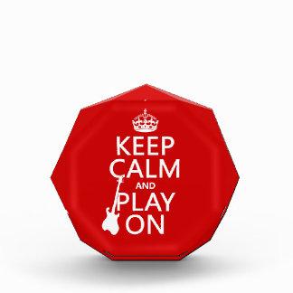 Keep Calm and Play On (guitar)(any color) Award