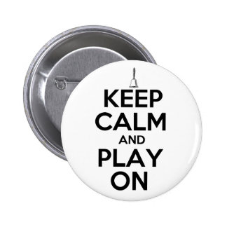 Keep Calm and Play On Handbells Pinback Button