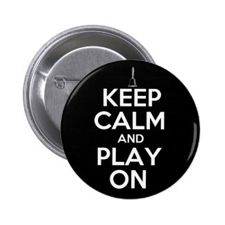 Keep Calm and Play On Handbells Pinback Buttons