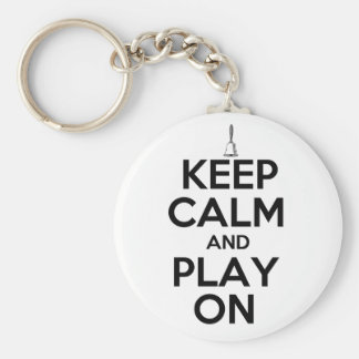 Keep Calm and Play On Handbells Basic Round Button Keychain