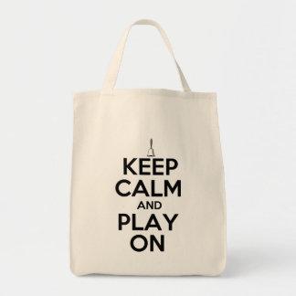 Keep Calm and Play On Handbells Tote Bag