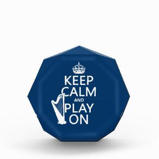 Keep Calm and Play On (harp)(any color) Award