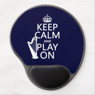 Keep Calm and Play On (harp)(any color) Gel Mouse Pad