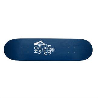 Keep Calm and Play On (harp)(any color) Skate Board Decks