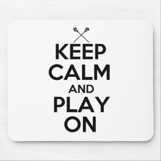 Keep Calm and Play On Mouse Pad