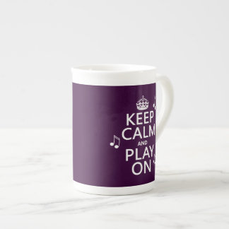 Keep Calm and Play on - music notes - all colours Tea Cup