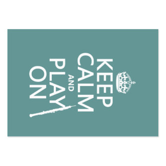 Keep Calm and Play On (oboe)(any color) Large Business Cards (Pack Of 100)