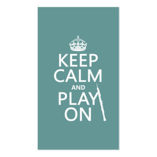 Keep Calm and Play On (oboe)(any color) Double-Sided Standard Business Cards (Pack Of 100)