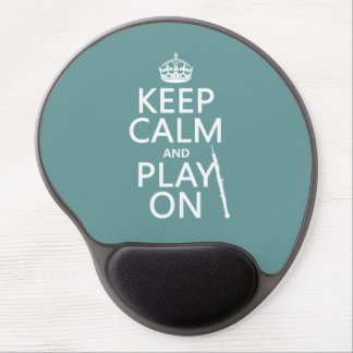 Keep Calm and Play On (oboe)(any color) Gel Mouse Pad