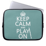 Keep Calm and Play On (oboe)(any color) Laptop Computer Sleeve