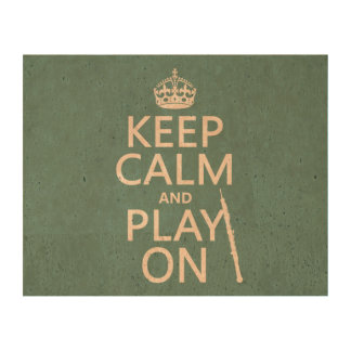 Keep Calm and Play On (oboe)(any color) Queork Photo Print