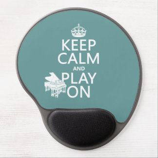 Keep Calm and Play On (Piano)(any background color Gel Mouse Pad