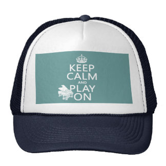 Keep Calm and Play On (Piano)(any background color Trucker Hat