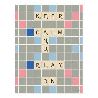 Keep Calm And Play On Postcard