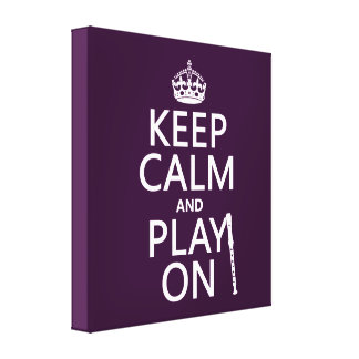Keep Calm and Play On (recorder)(any color) Canvas Print