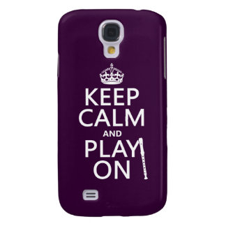 Keep Calm and Play On (recorder)(any color) Galaxy S4 Cover