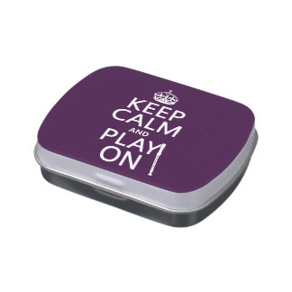 Keep Calm and Play On (recorder)(any color) Jelly Belly Candy Tin