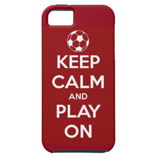 Keep Calm and Play On Red iPhone 5 Cases