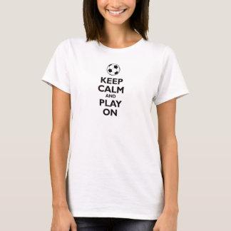 keep calm and play on soccer ball football shirt s