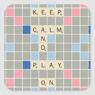 Keep Calm And Play On Square Sticker